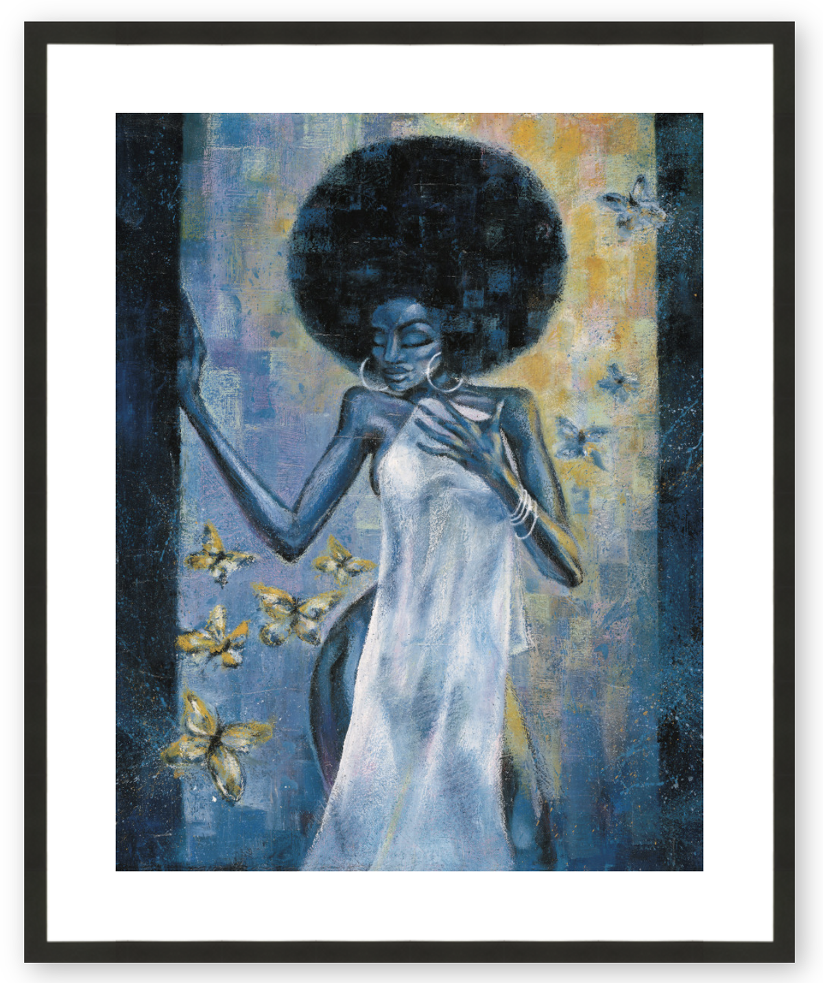 Afro Blue - Framed & Ready to Hang