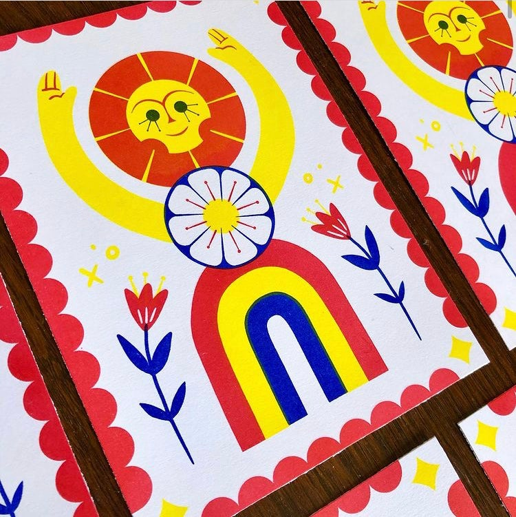Image of Sun flower (Riso print)