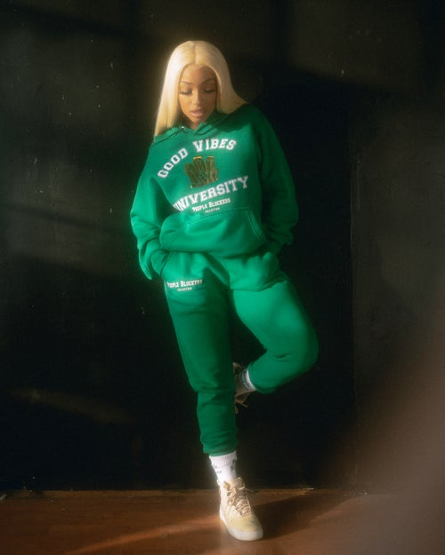 Image of Good Vibes University Plush Cotton Sweatsuit