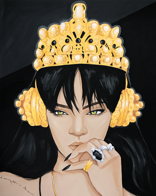 Image of Queen Rih (Acrylic Painting)
