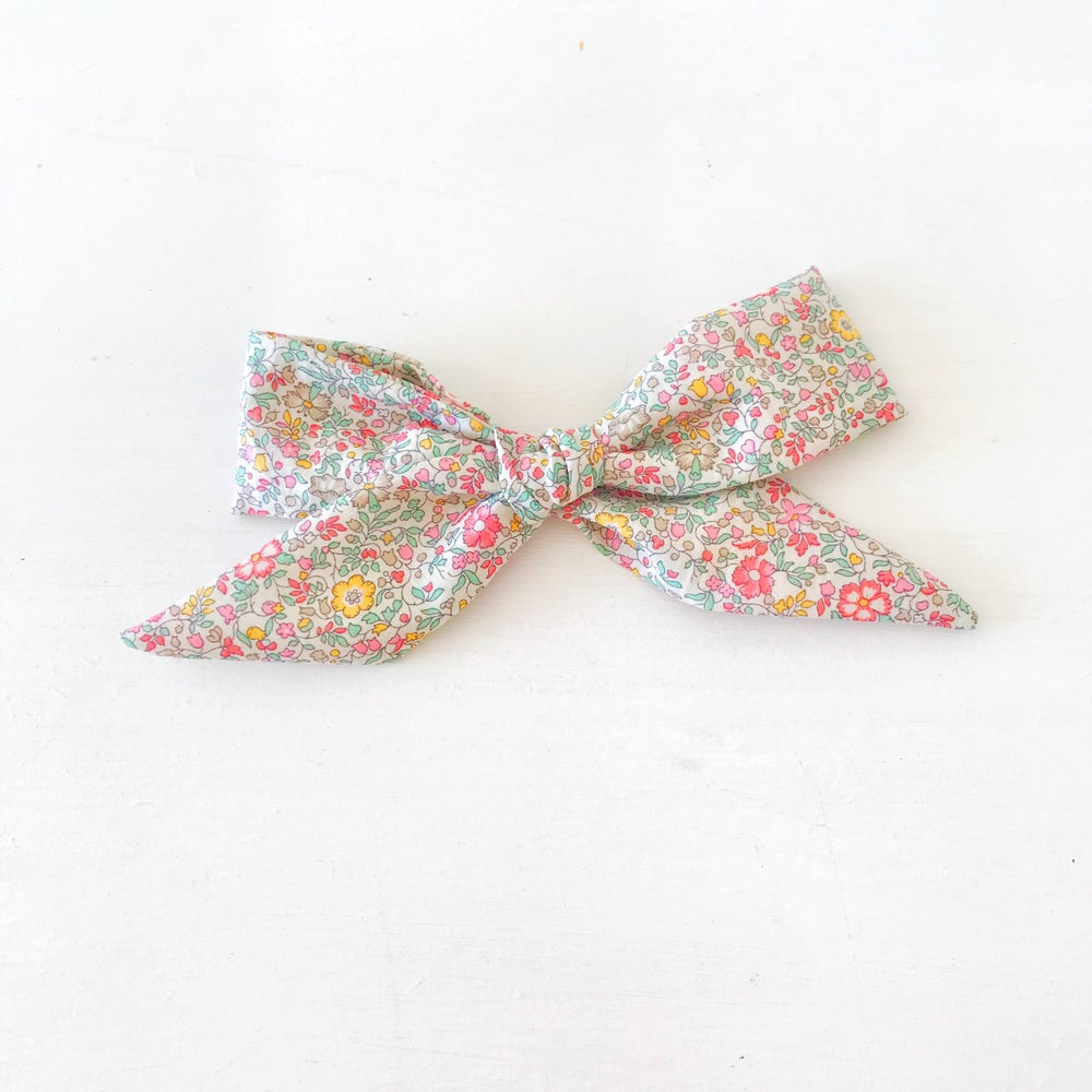 Image of Over Sized Hand Tied Hair bow - Katie and Millie Liberty Fabric