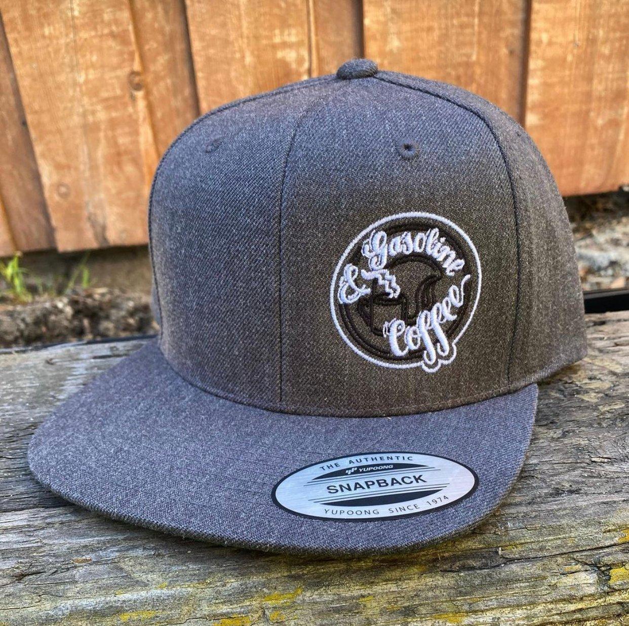 Image of Grey SnapBack Helmet Head