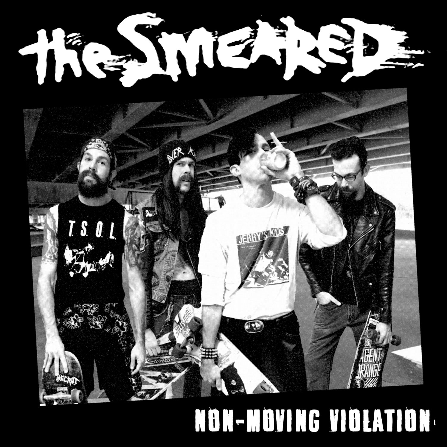 """Image of The Smeared """"Non-Moving Violation"""" CD"""