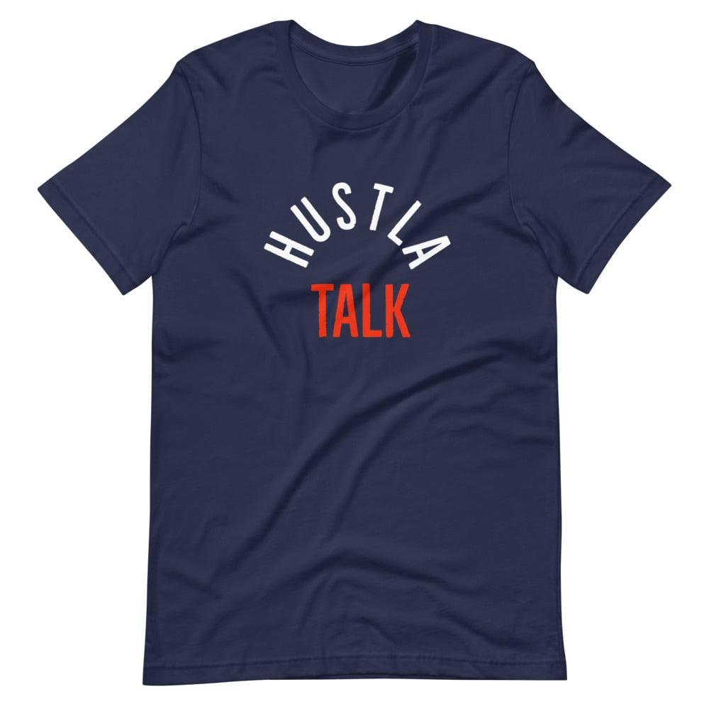 Image of Hustla talk podcast tee
