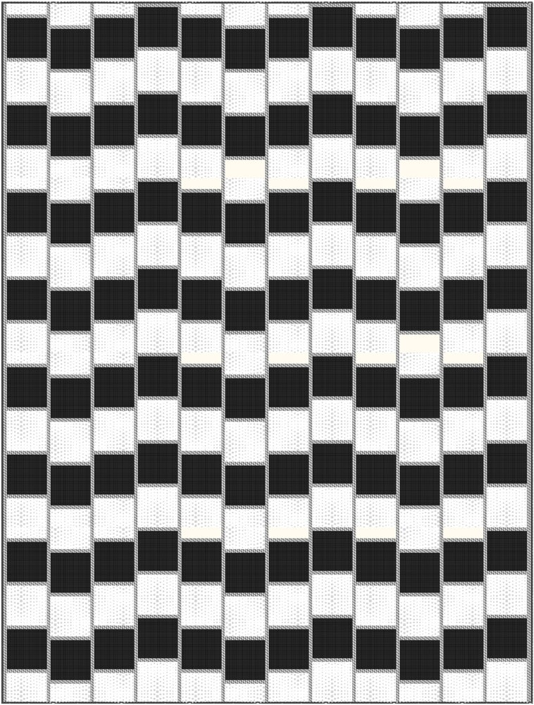 Optical Illusion Quilt Kit with Pattern