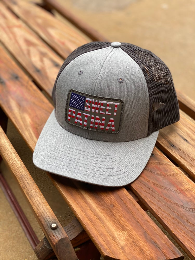 Image of Heather Gray Flag Patch Hat