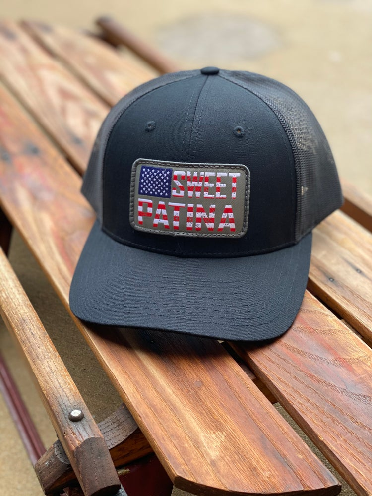 Image of Solid Black Flag Patch Hat