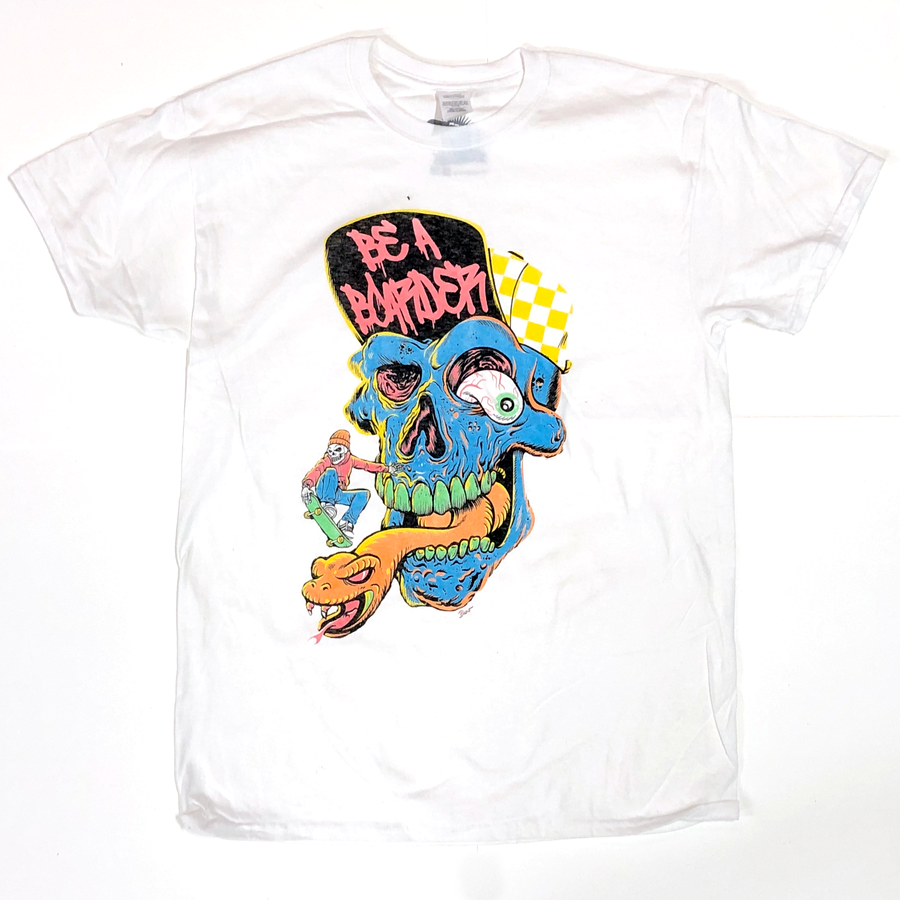 Image of Be A Boarder Skull Tee - WHITE