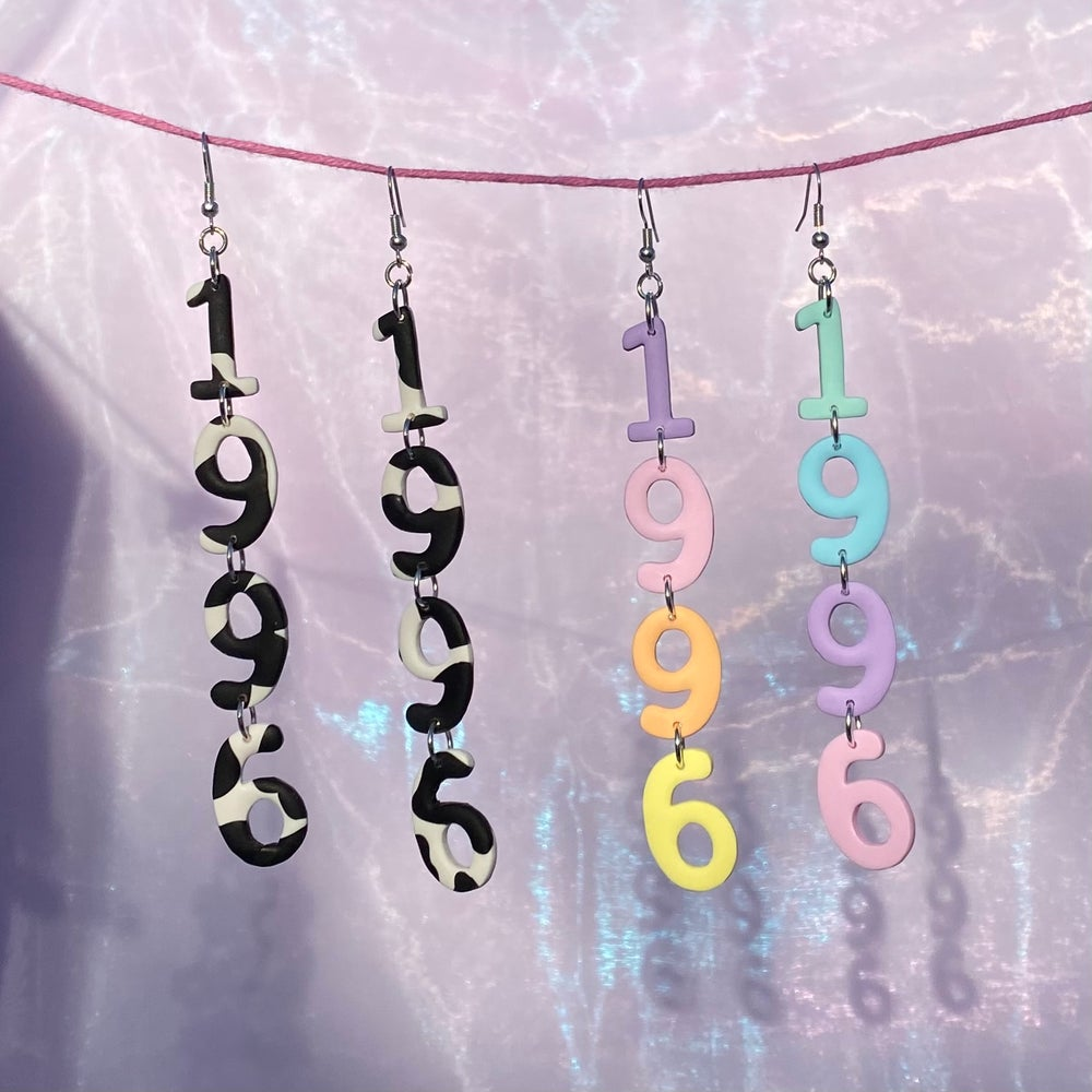 Image of Birth Year Earrings (CUSTOMISABLE)