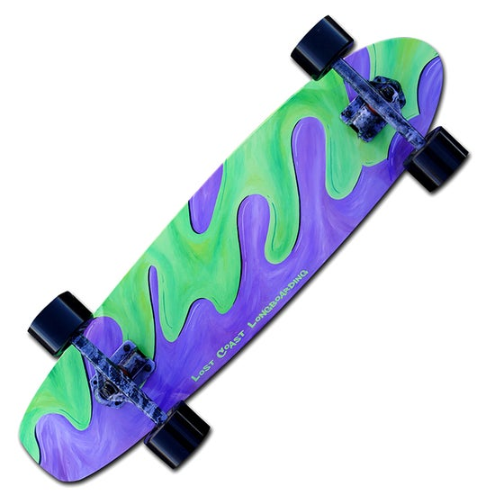 "Image of 31.5"" X 8"" Purple Green Slime Cruiser"