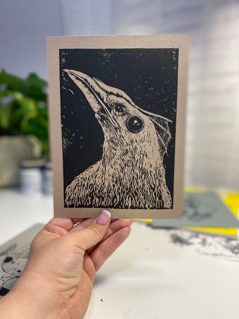 """Image of """"Reptilio"""" Original Lino Cut Print"""