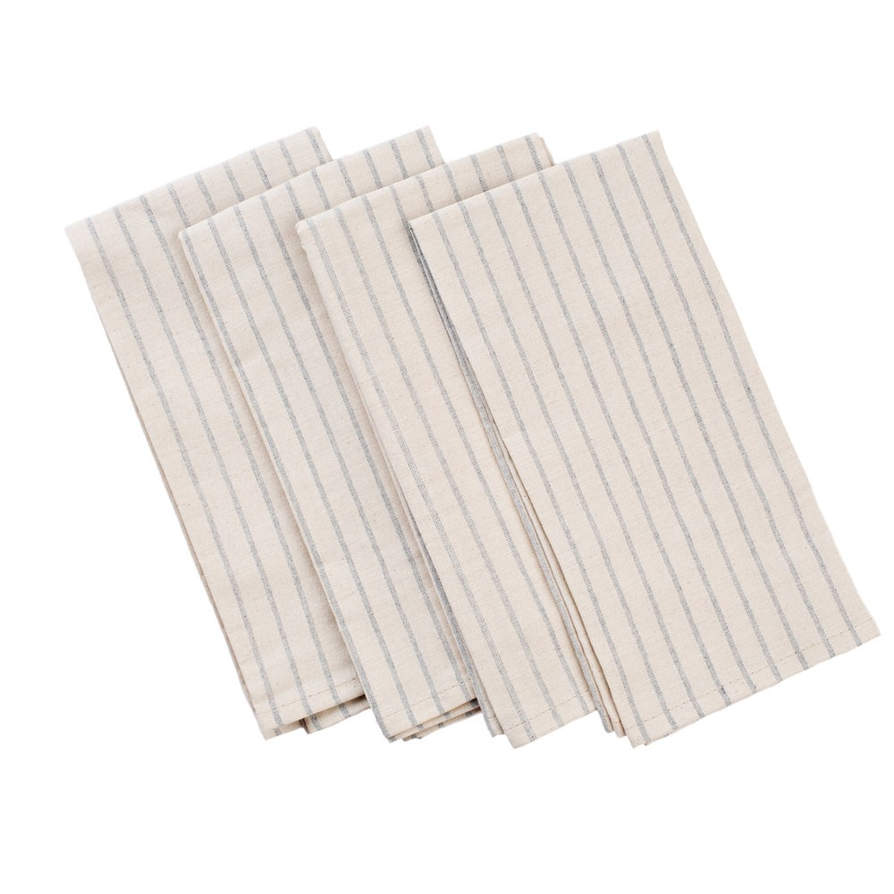 Image of Meema Striped Cotton Napkins-Natural