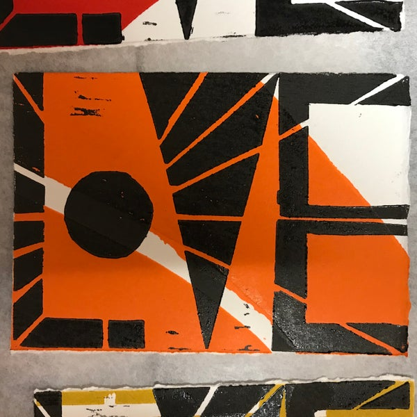 Image of Orange LOVE rint