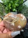 Flower Agate Heart