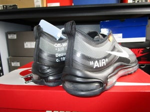 """Image of Air Max 97 x OFF-WHITE """"Black"""" *PRE-OWNED*"""