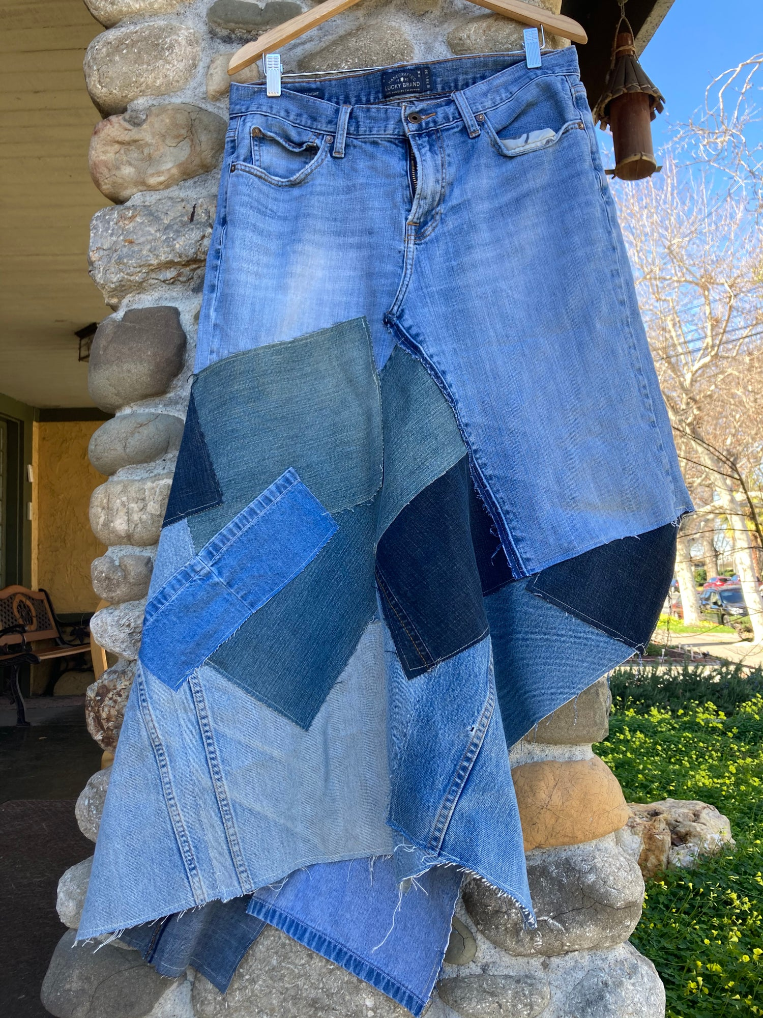 Image of Upcycled Jeans Skirt