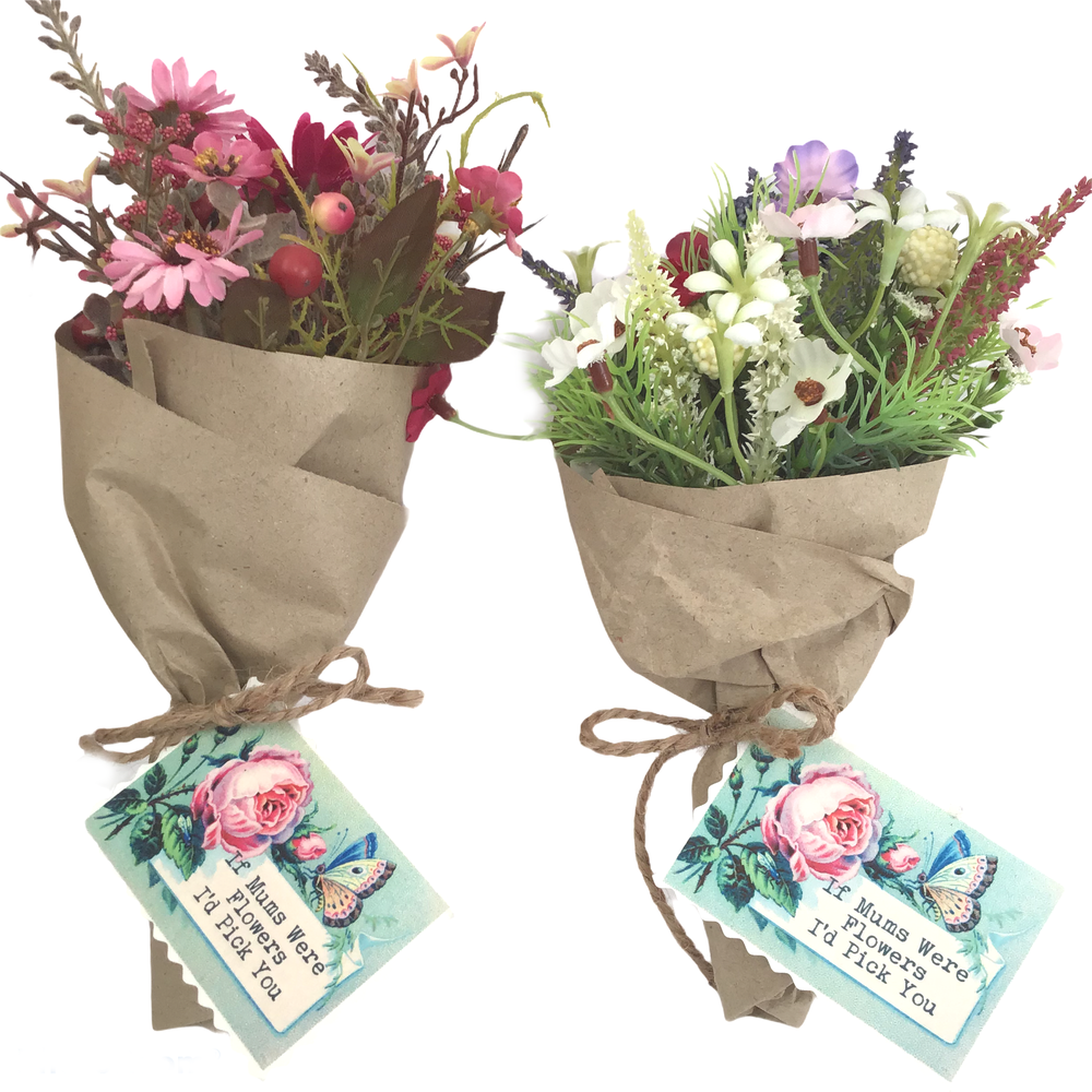 Image of Mothers day Mini Bouquets with Gift Tag
