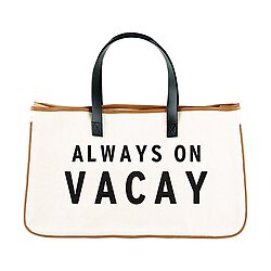 Image of Always On Vacay Canvas Tote