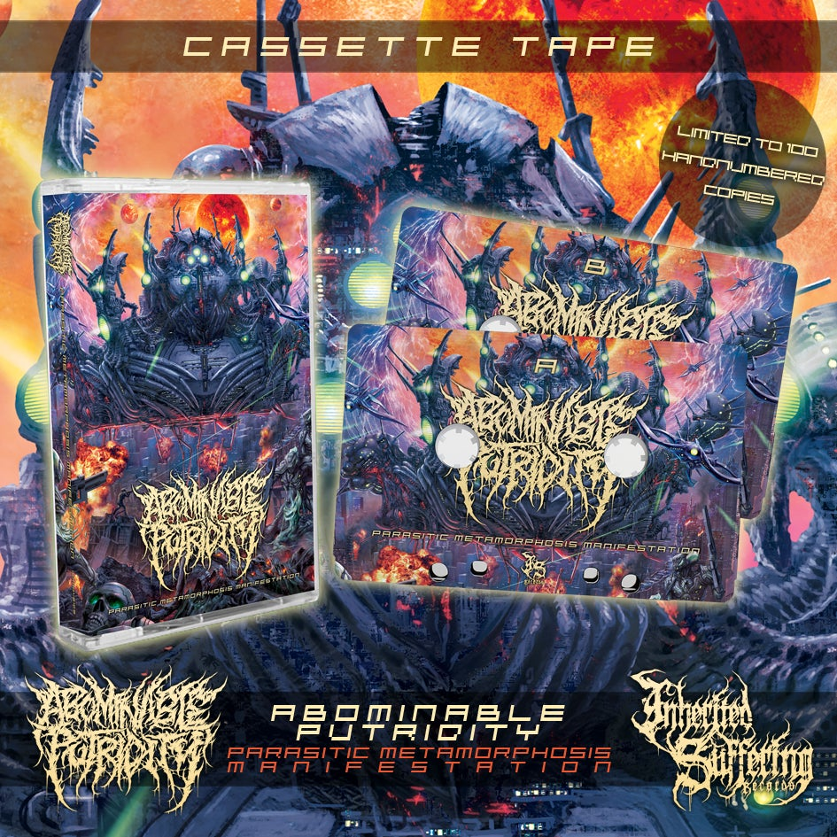 Image of Abominable Putridity - Parasitic Metamorphosis Manifestation - Cassette Tape