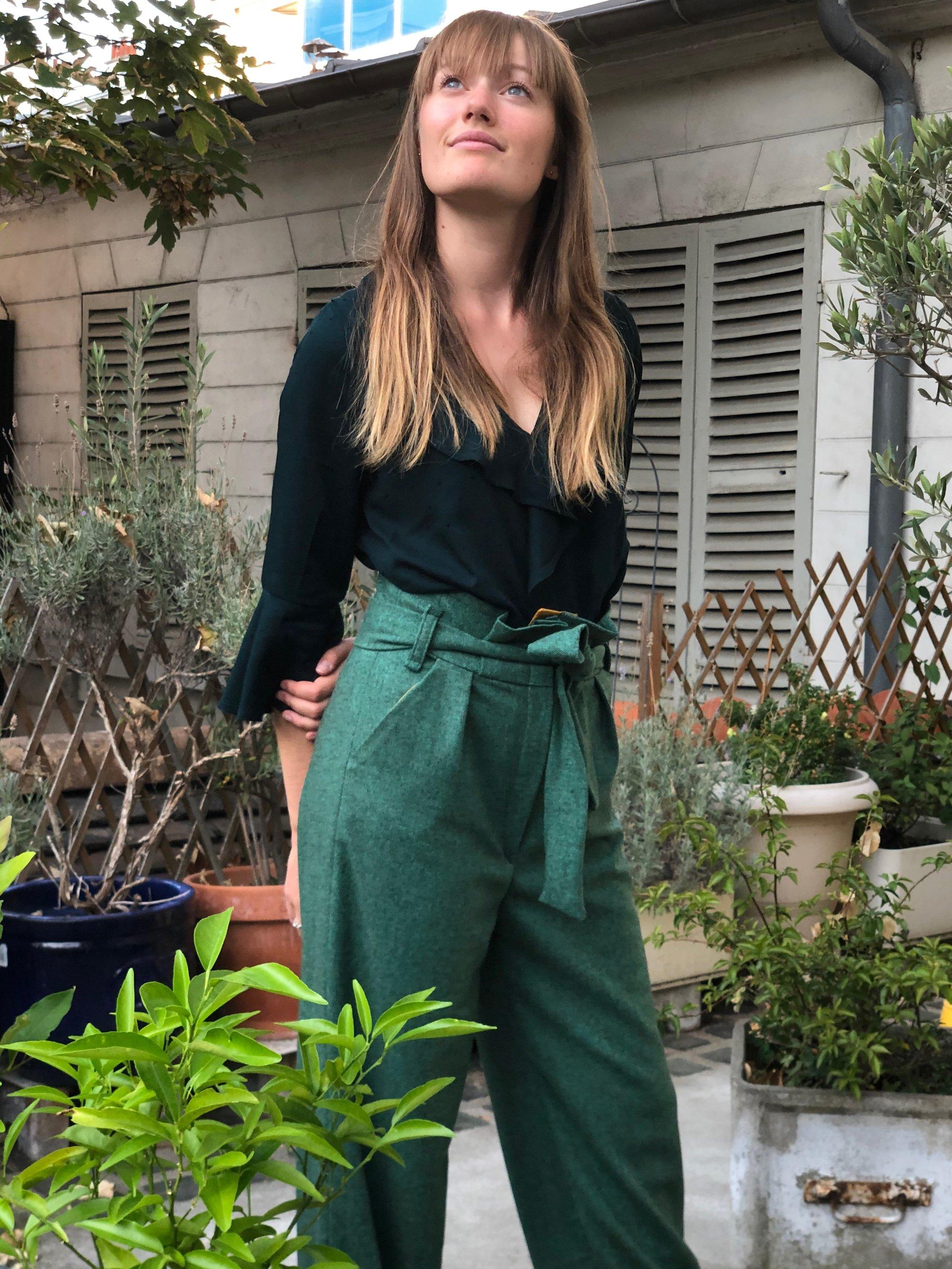 Image of Pantalon Louisa vert