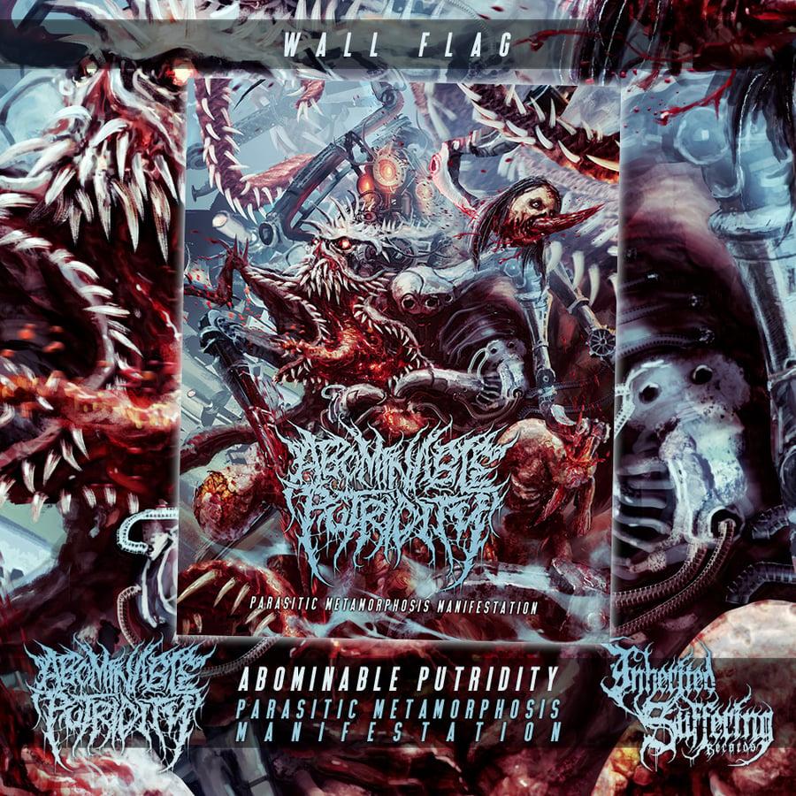 Image of Abominable Putridity - Parasitic Metamorphosis Manifestation - Alternative Design - Wall Flag