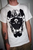 Image of vulture shirt white