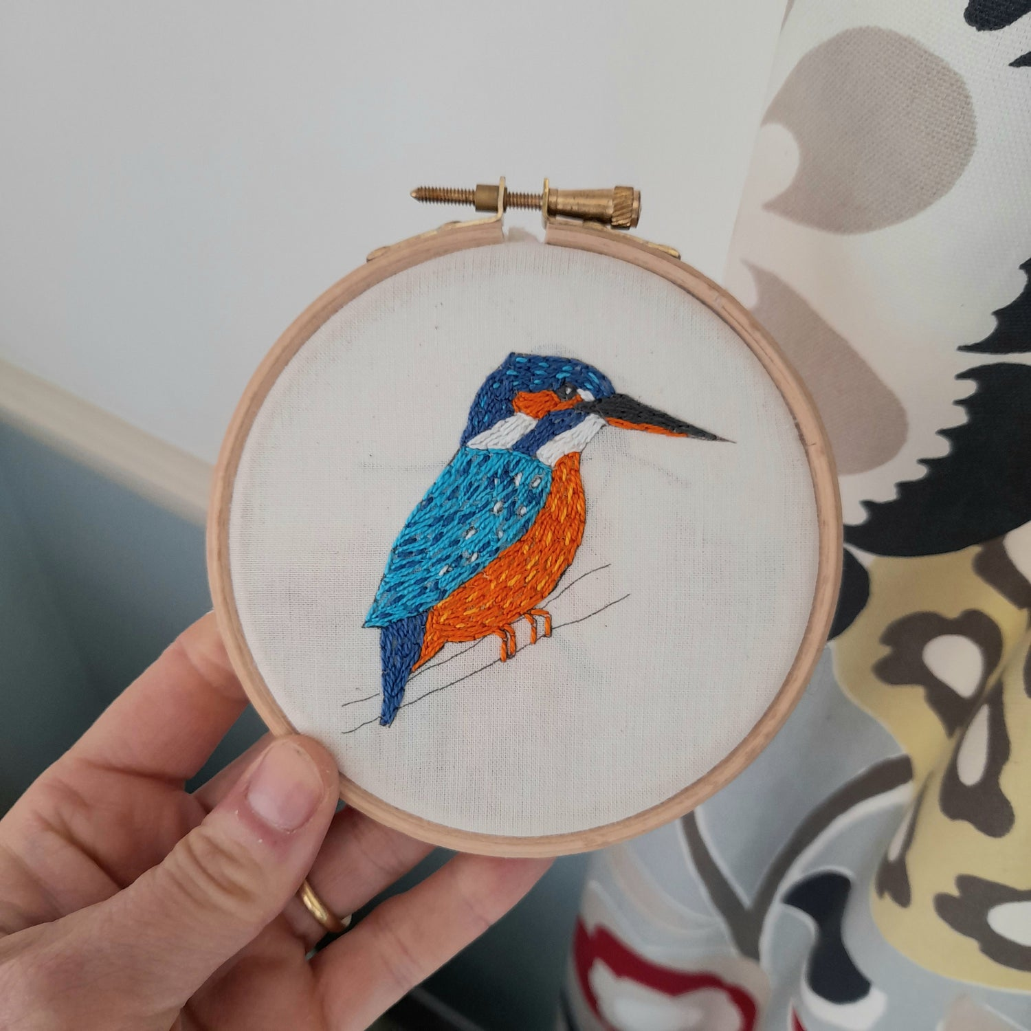 Image of Kingfisher Embroidery Kit