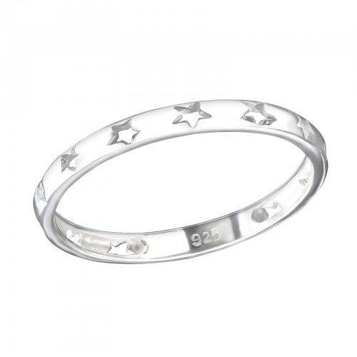 Image of Stardust cut out star ring (sterling silver)