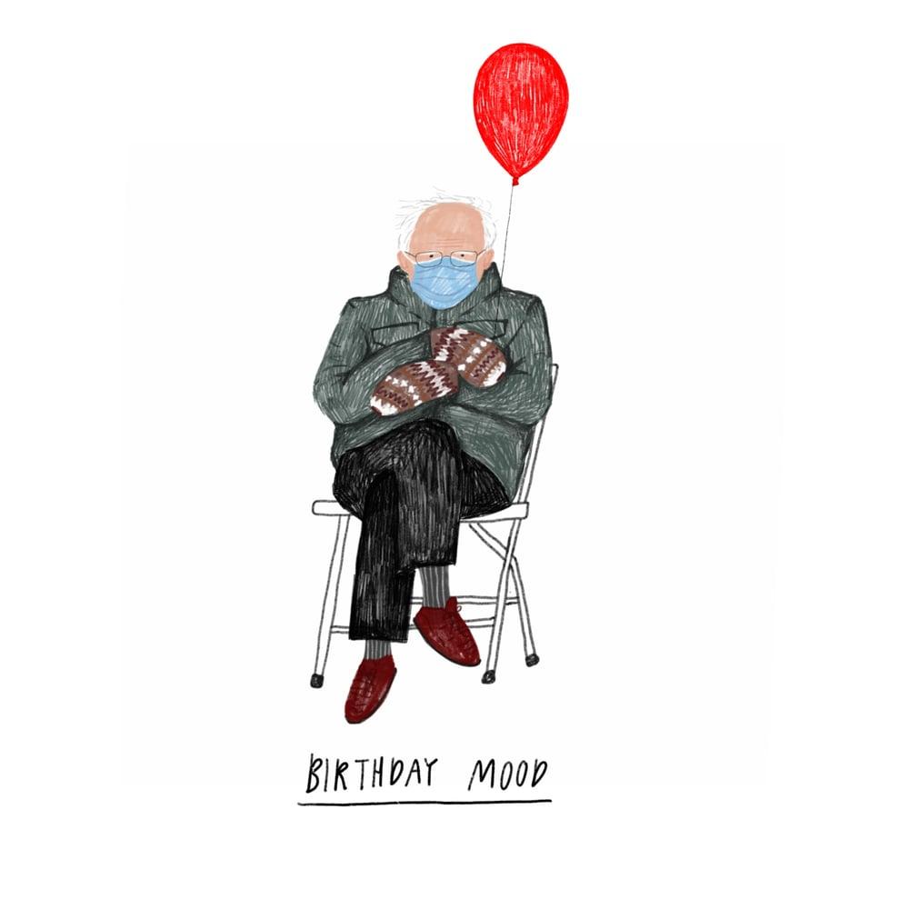 Image of Bernie Sanders Mittens Mini Print or Card