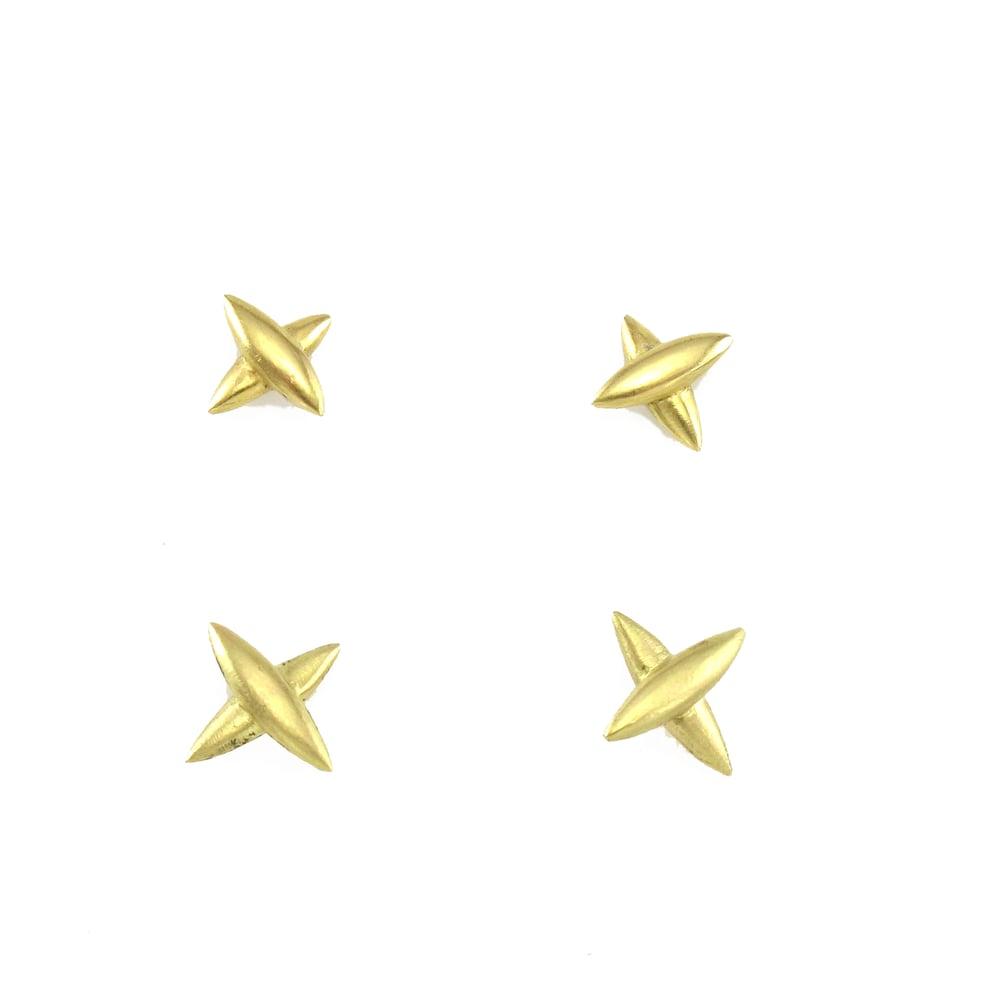 Image of Small Star Cross Stud Earrings