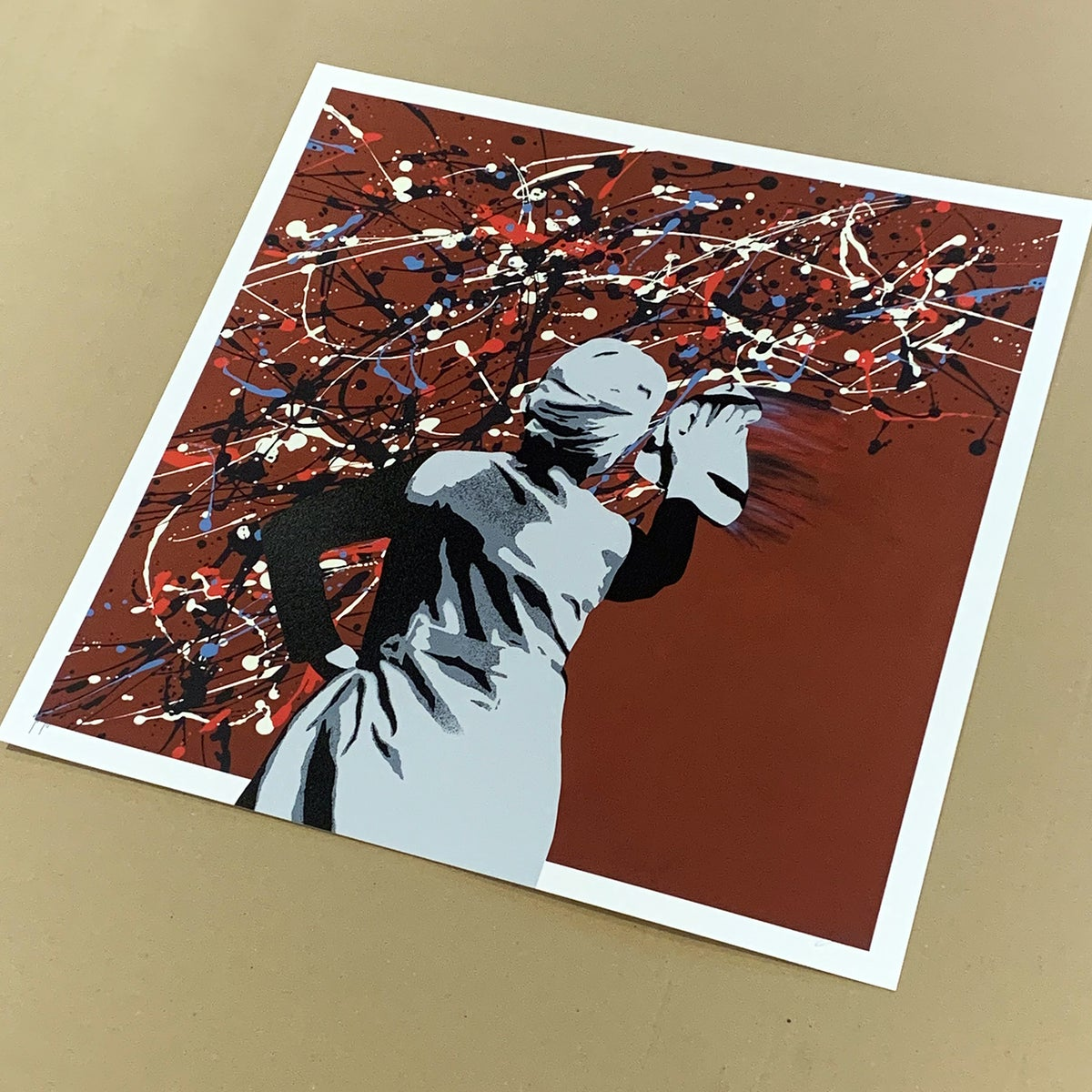 "Image of ""Drip Remover"" AP 1/4 Burgundy to an Edition of 25 - Screen Print"