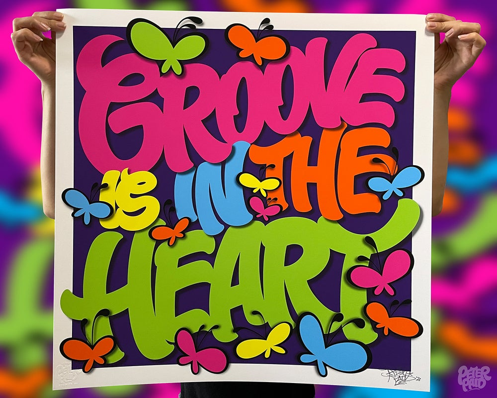 "Image of Groove is in the Heart - 24"" x 24"" Print and T-Shirt LIMITED Capsule"