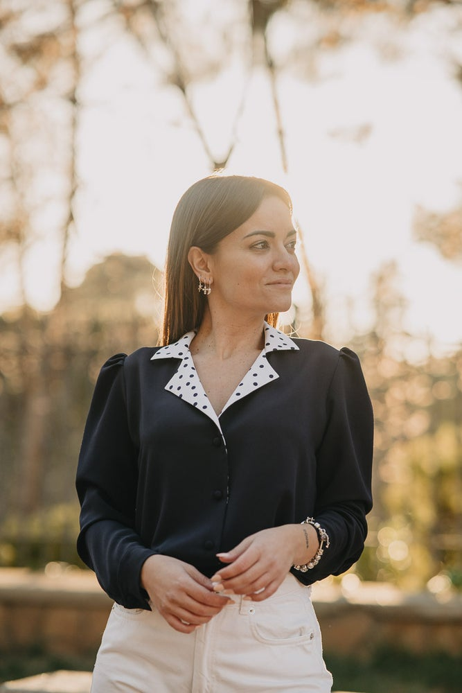 Image of Camisa OSTROM - Navy topitos