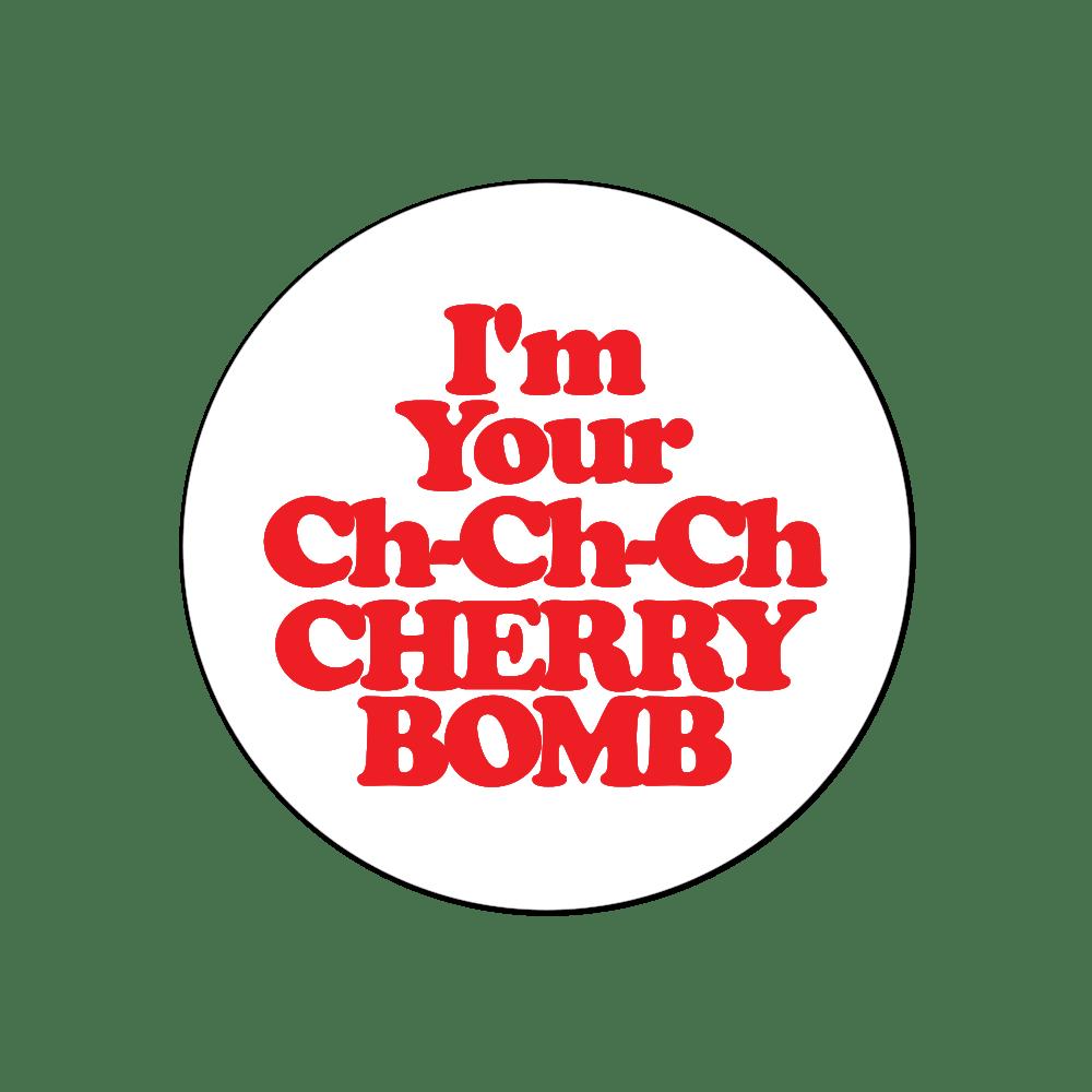 Cherry Bomb Transparent Sticker
