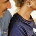 Boucle d'oreille Courte Etoile // Short Star Earring