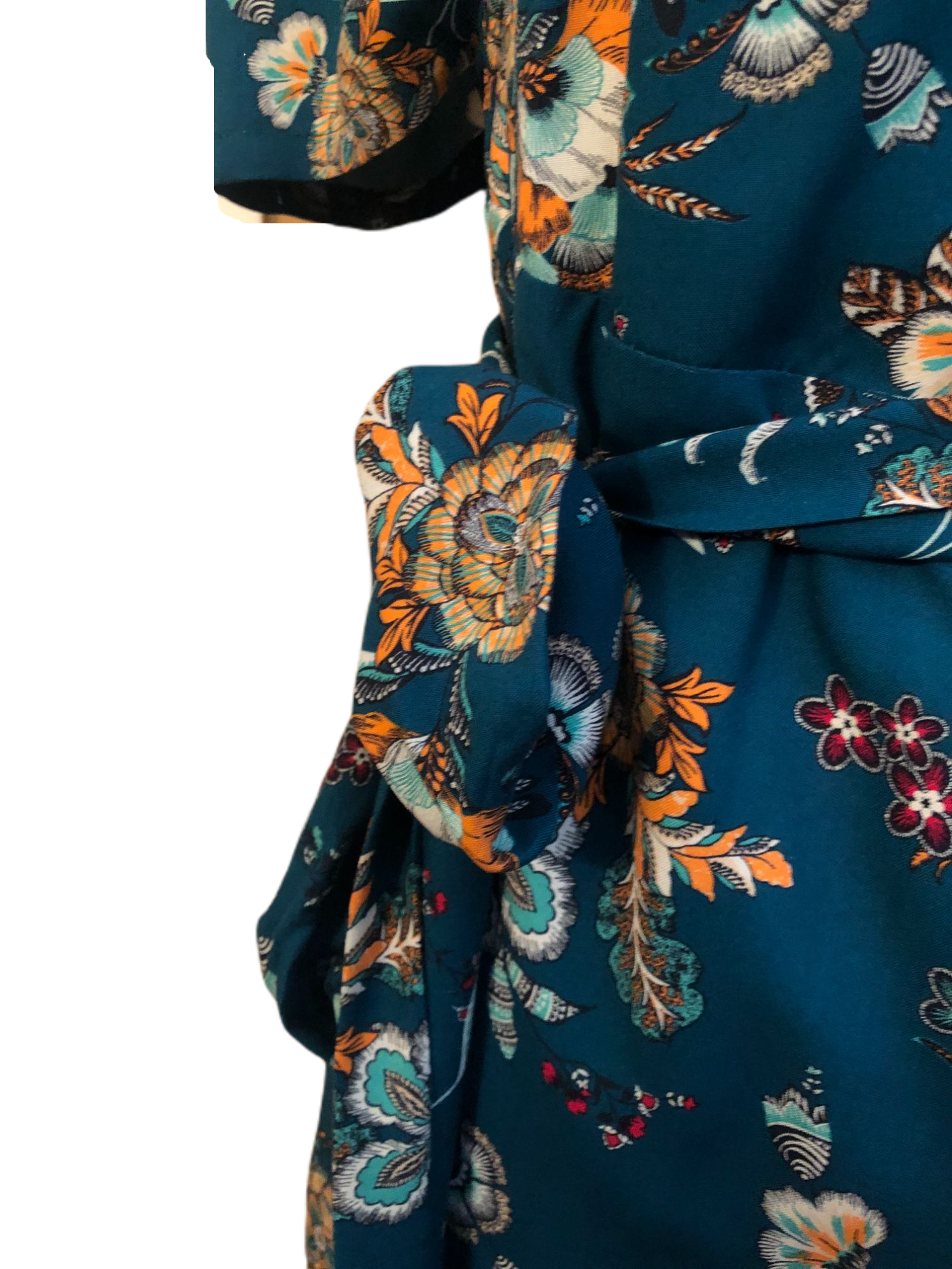 Image of Robe Vicky bleue fleurie
