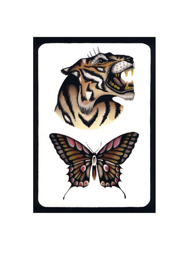 Tiger & Butterfly print - proyecto eclipse