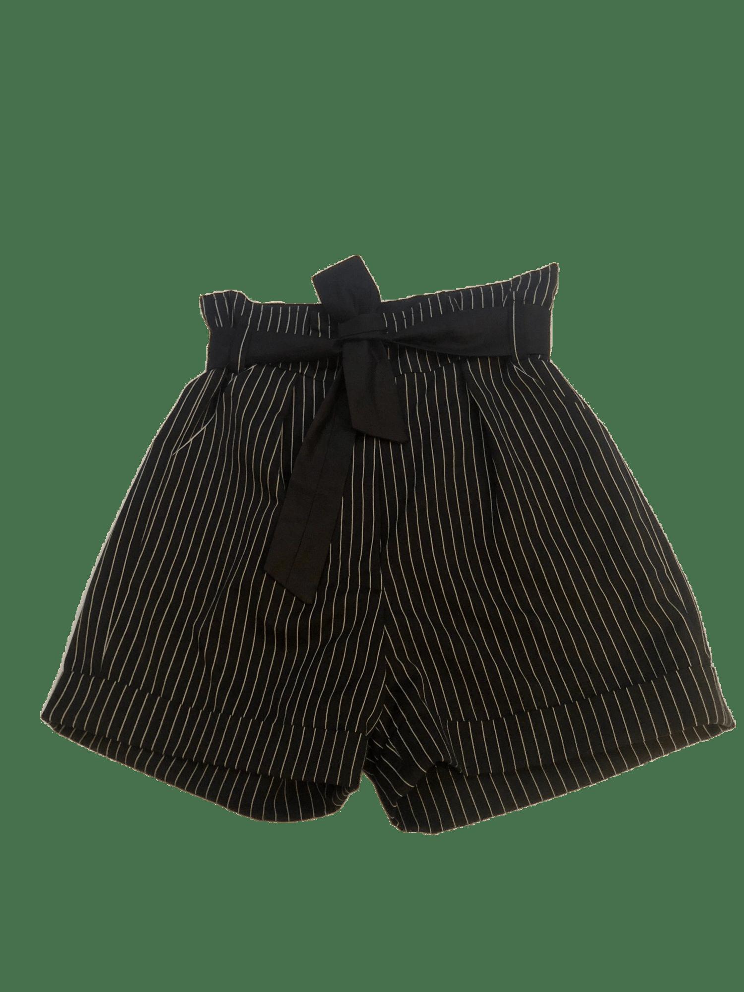 Image of Short Louisa rayé noir et blanc