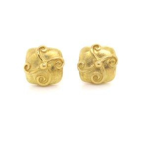 Image of Antique Square 18k Earrings