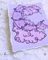 Moon Hearts Embellished Art Print