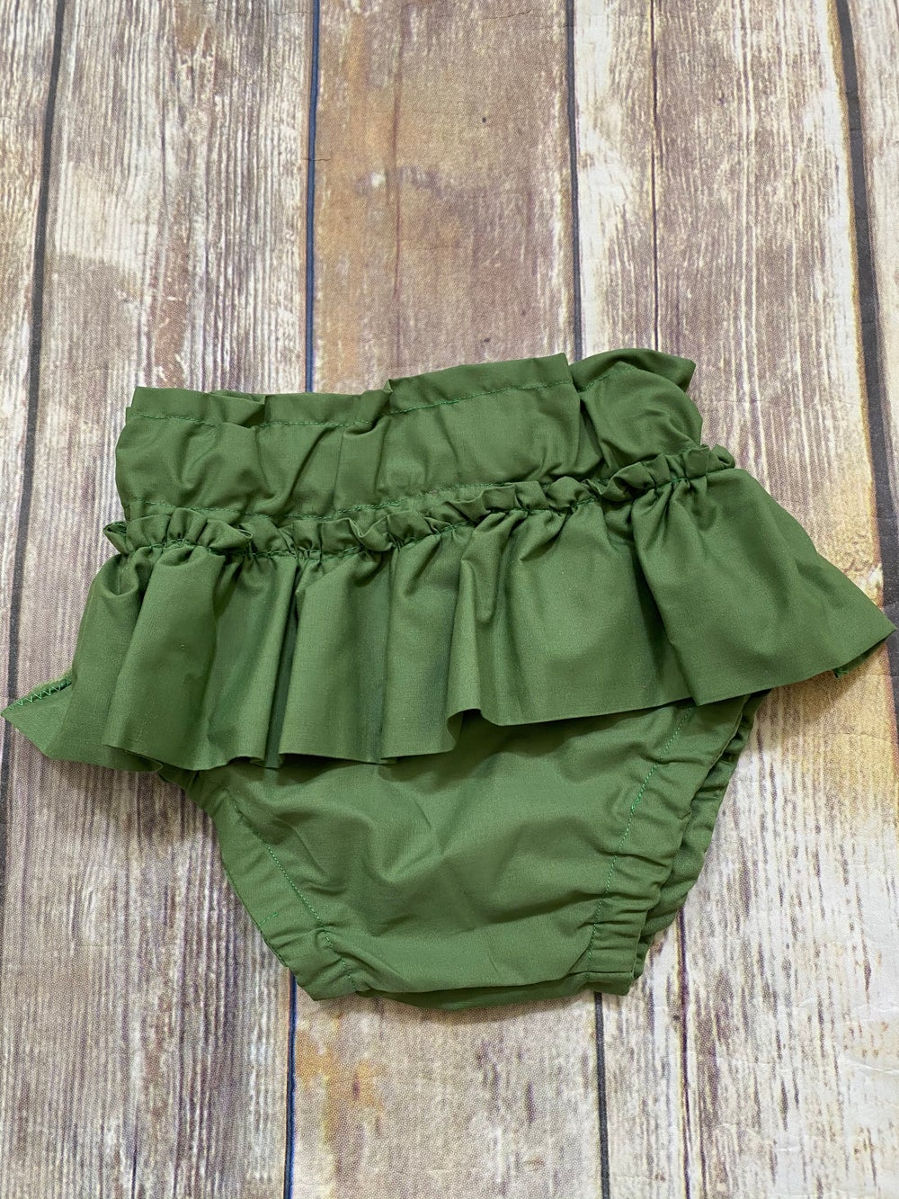 Image of Green Ruffled Bloomers