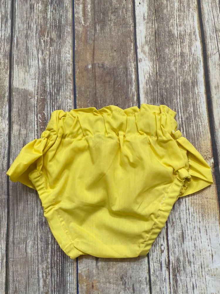 Image of Yellow Ruffled Bloomers