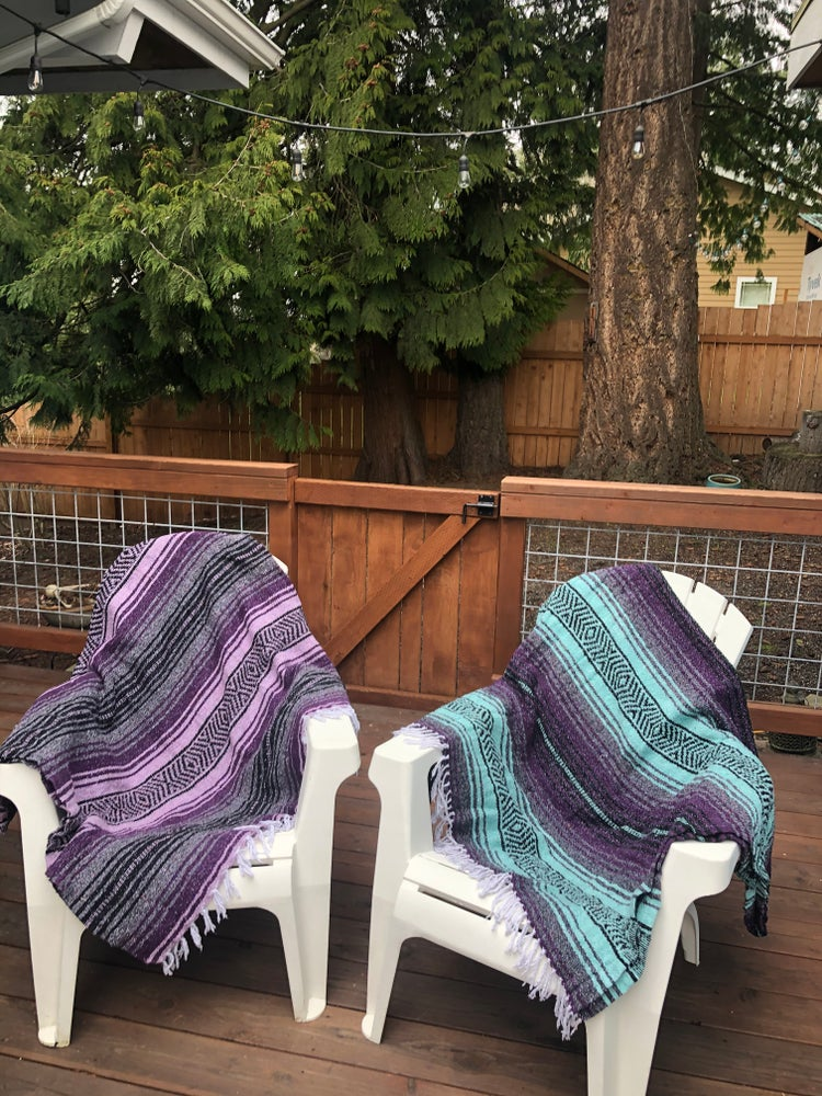 Image of Light Purple/Dark Purple/Grey Baja Blanket