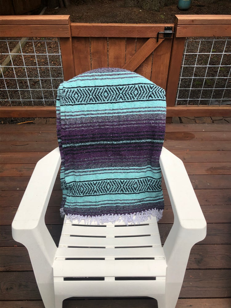Image of Purple/Mint/Grey Baja Blanket