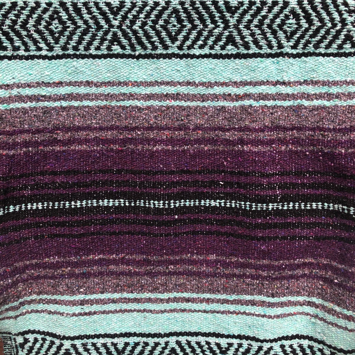 Image of Purple/Mint/Grey Baja Blanket