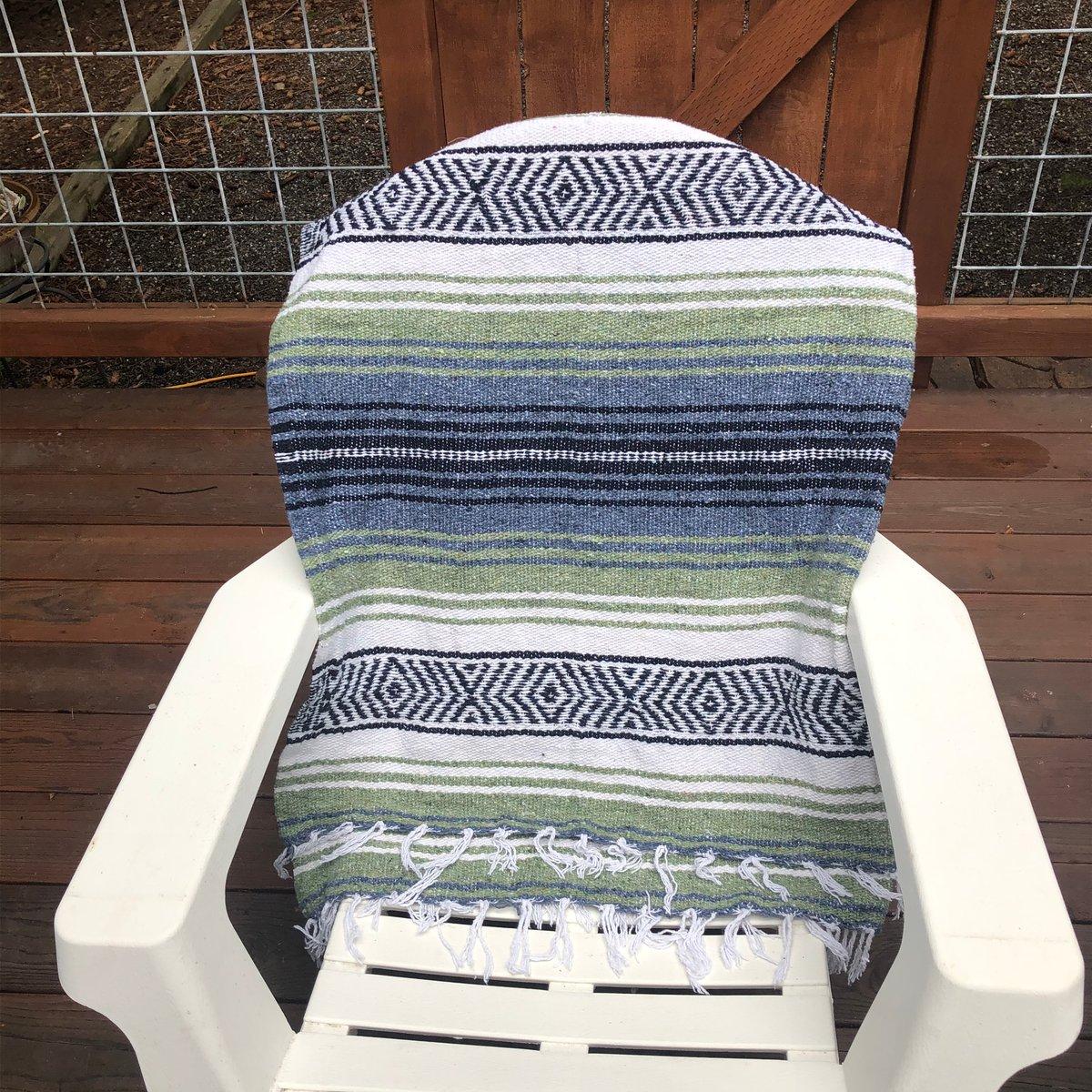 Image of Blue/Green/White Baja Blanket