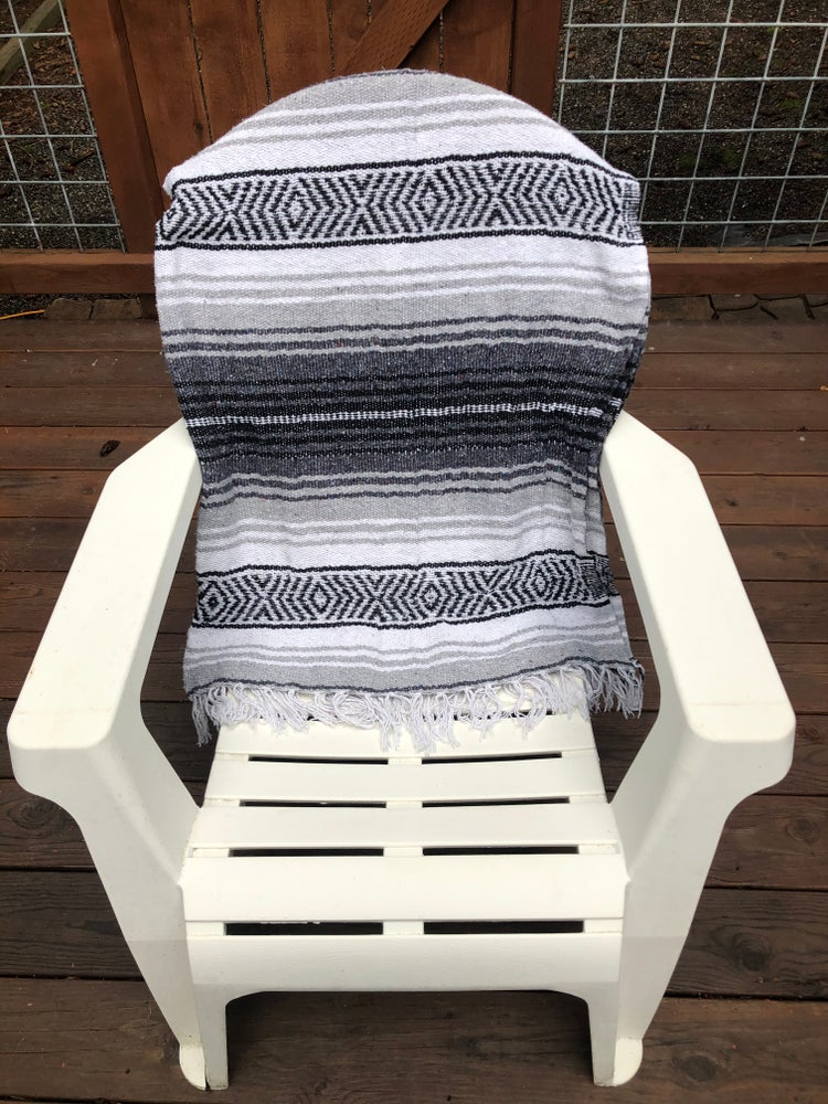 Image of White/Grey/Charcoal Baja Blanket