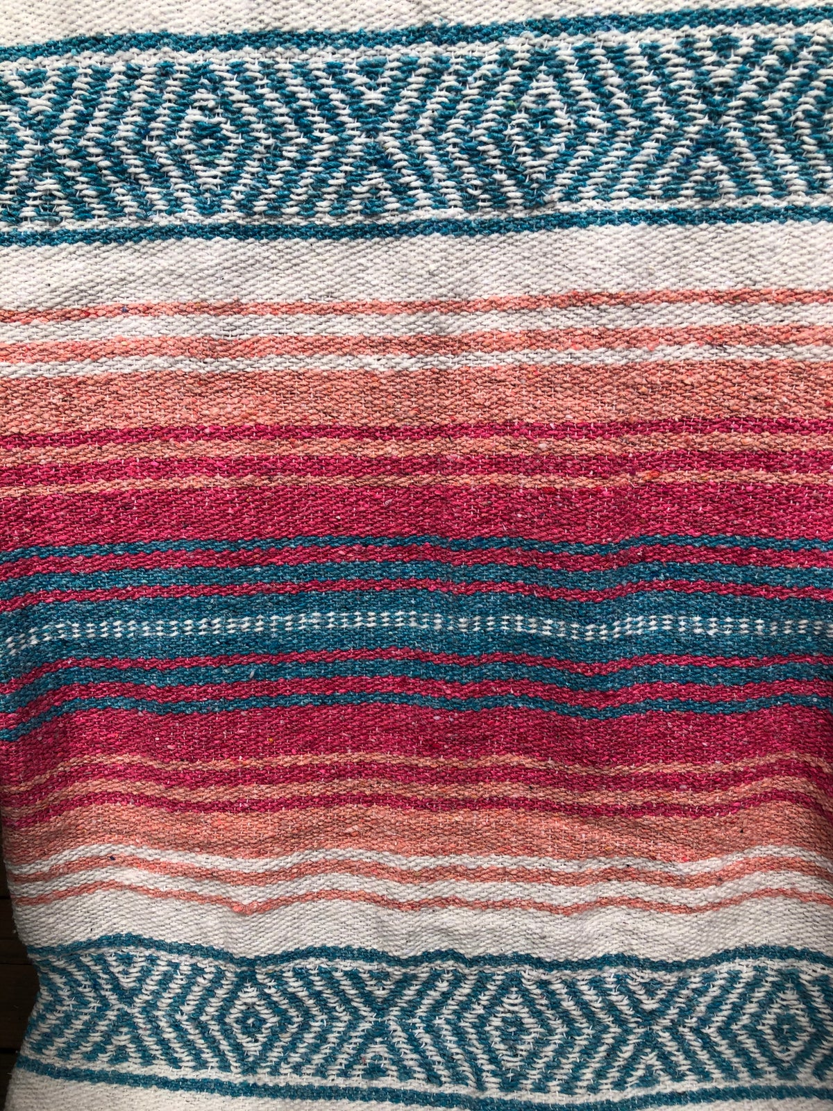 Image of Pink/Blue/White Baja Blanket
