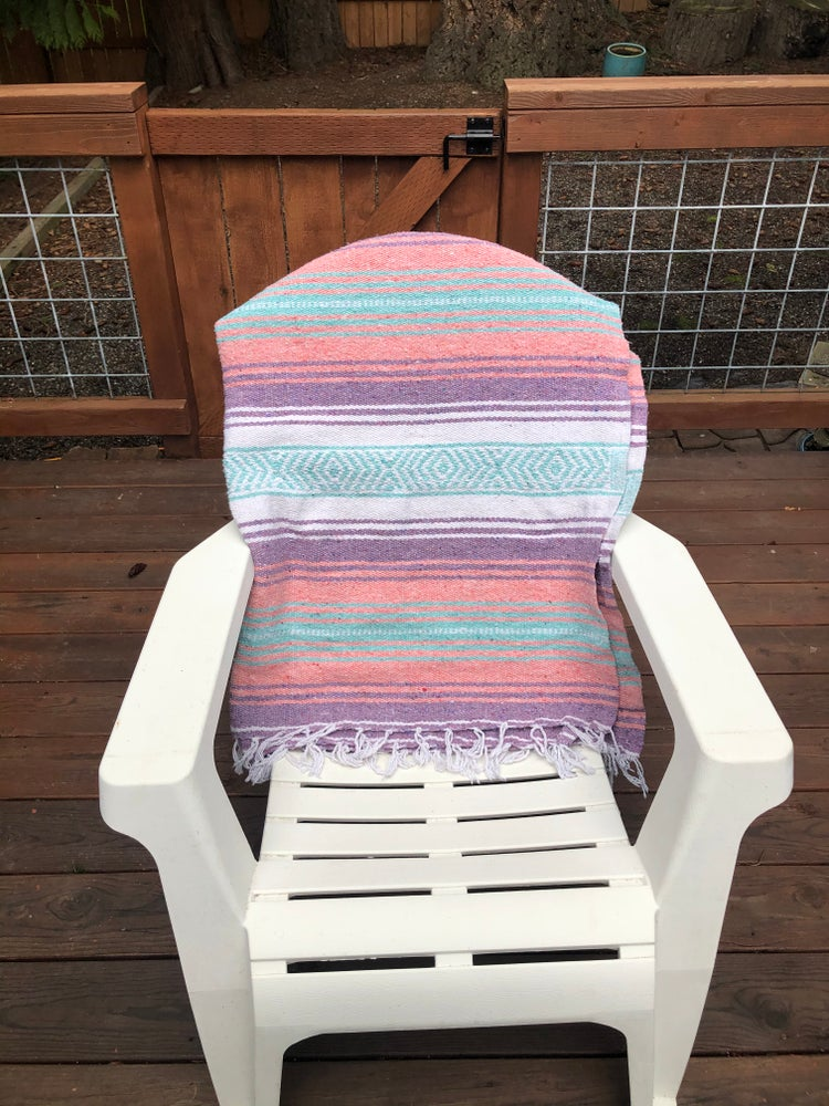 Image of Mint/Purple/Pink Baja Blanket