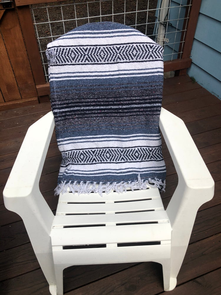 Image of Slate/Grey/White Baja Blanket